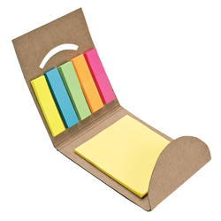 5-Color Sticky Note & Flag Set